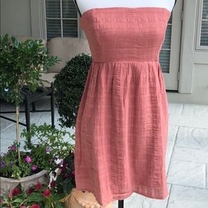 Cute strapless sundress with tie sz Med NW0T